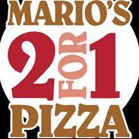 Mario's 2 For 1 Pizza logo