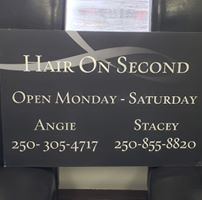 Hair On Second logo