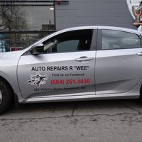 "Auto Repairs R ""Wee"" logo"