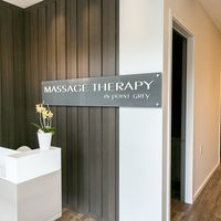 MASSAGE THERAPY in point grey logo