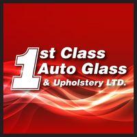1st Class Autoglass & Upholstery logo
