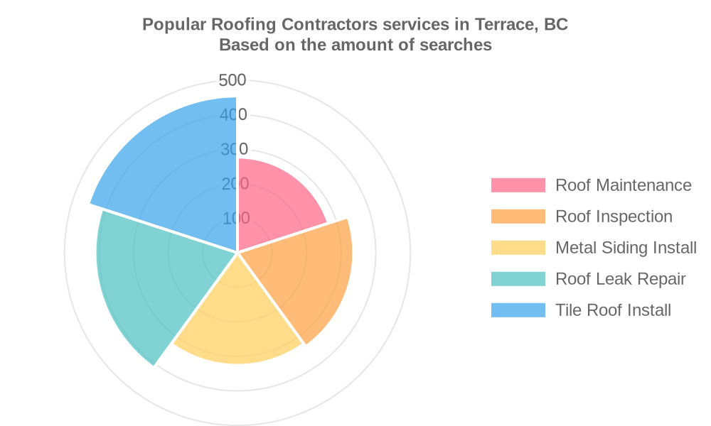 Popular services provided by roofing contractors in Terrace, BC