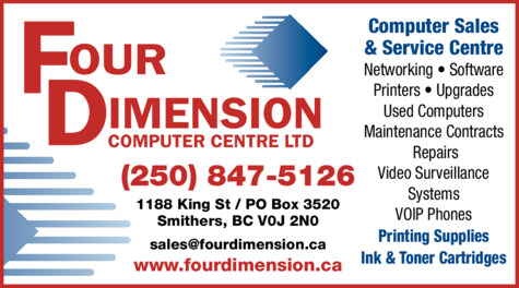 Yellow Pages Ad of Four Dimension Computer Centre