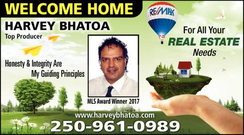 Print Ad of Harvey Bhatoa - Re/Max Core Realty