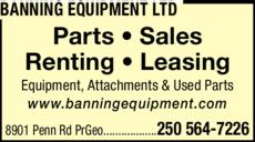 Print Ad of Banning Equipment Ltd