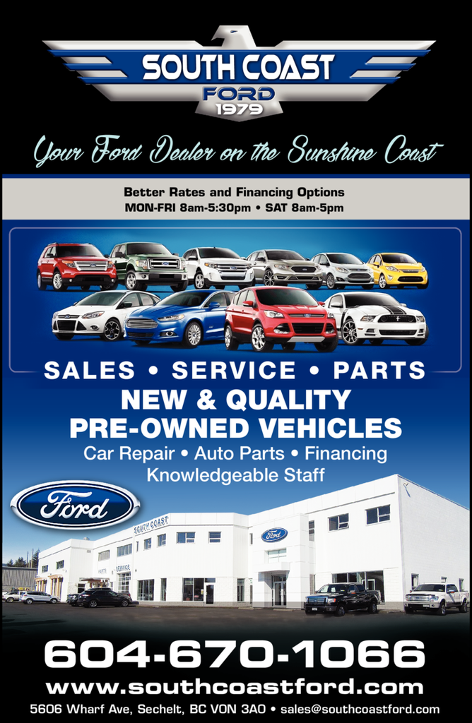 Print Ad of South Coast Ford Sales Ltd